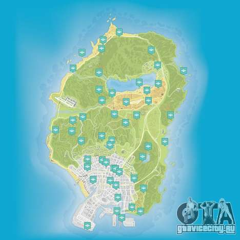 Карта частей космического корабля в GTA 5