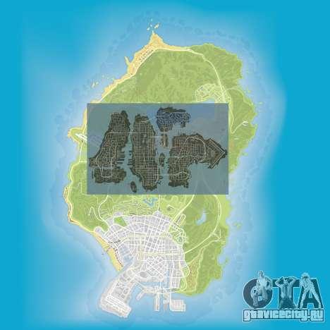 Сравнение размеров карт GTA 5 и GTA 4