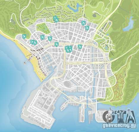 Knife flight map in GTA 5