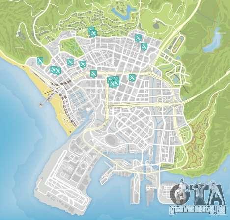 Карта полетов «на ноже» (knife flights) в GTA 5