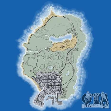 Карта дорог Grand Theft Auto 5