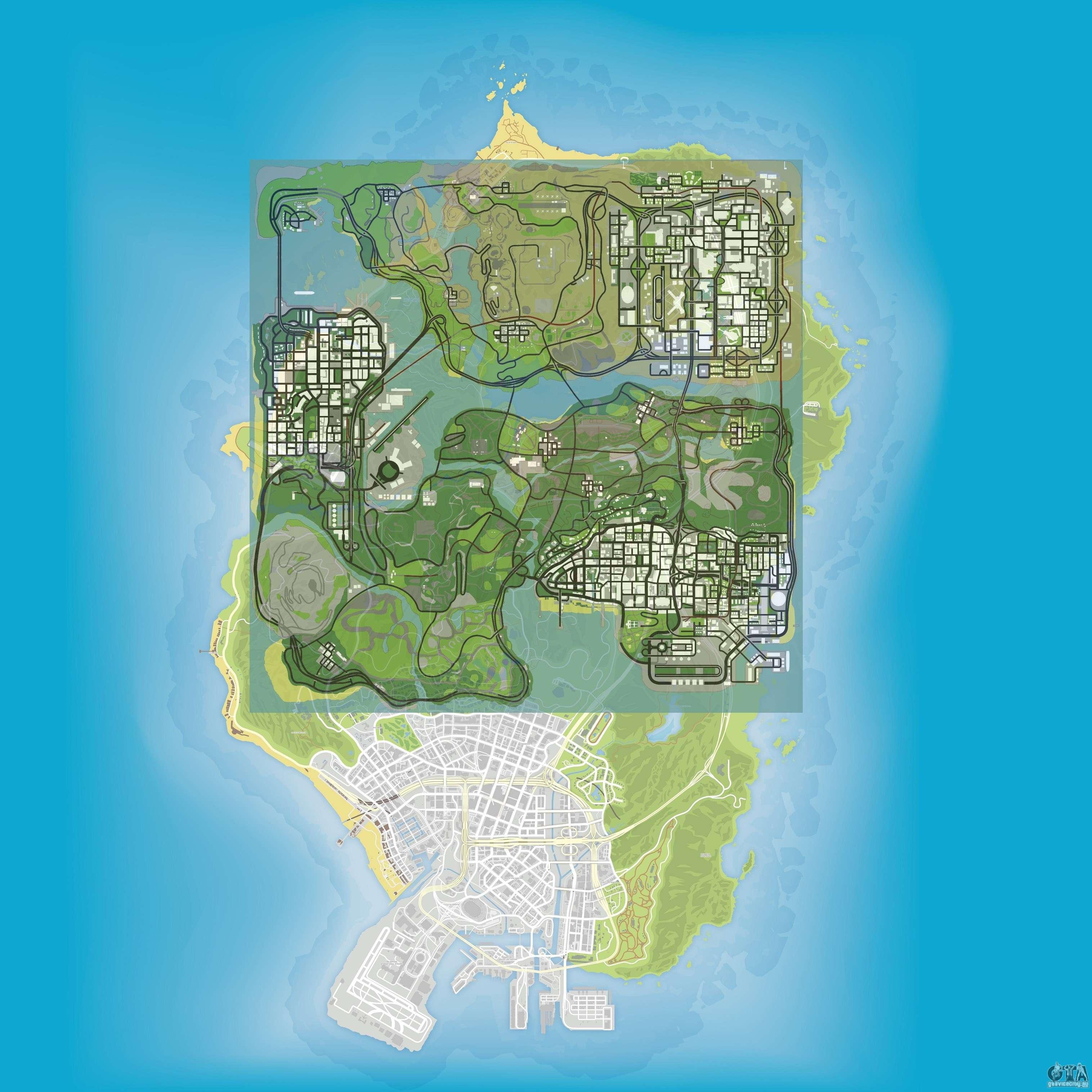 GTA V Los Santos Vs San Andreas Los Santos