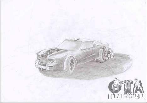 Рисунок крутой тачки из GTA 5