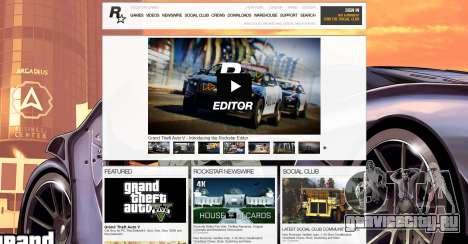 Сайт Social Club - регистрация аккаунта GTA 5 Online