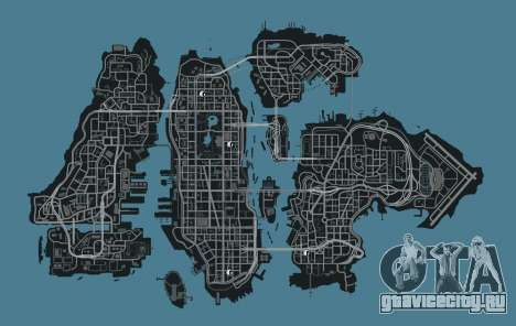GTA 4 Карта магазинов одежды