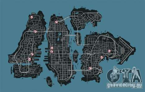 Карта сервисов GTA 4