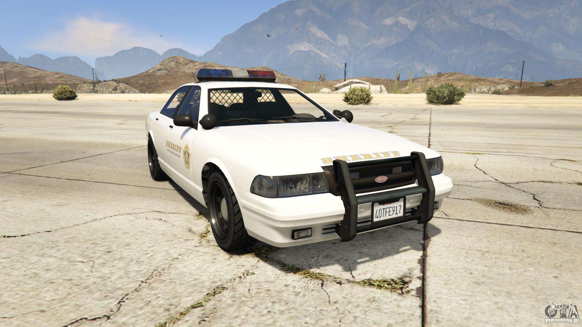 GTA 5 Vapid Sheriff Cruiser - вид спереди