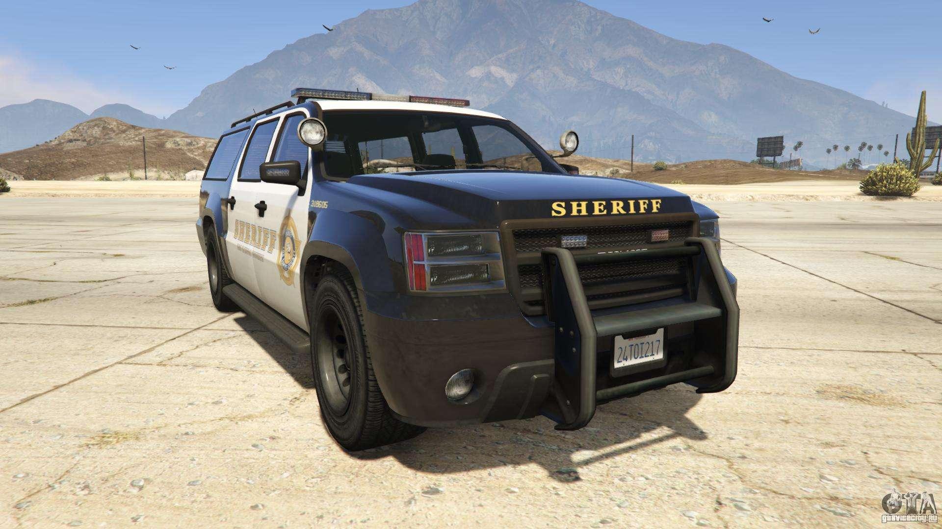 GTA 5 Declasse Sheriff SUV - вид спереди