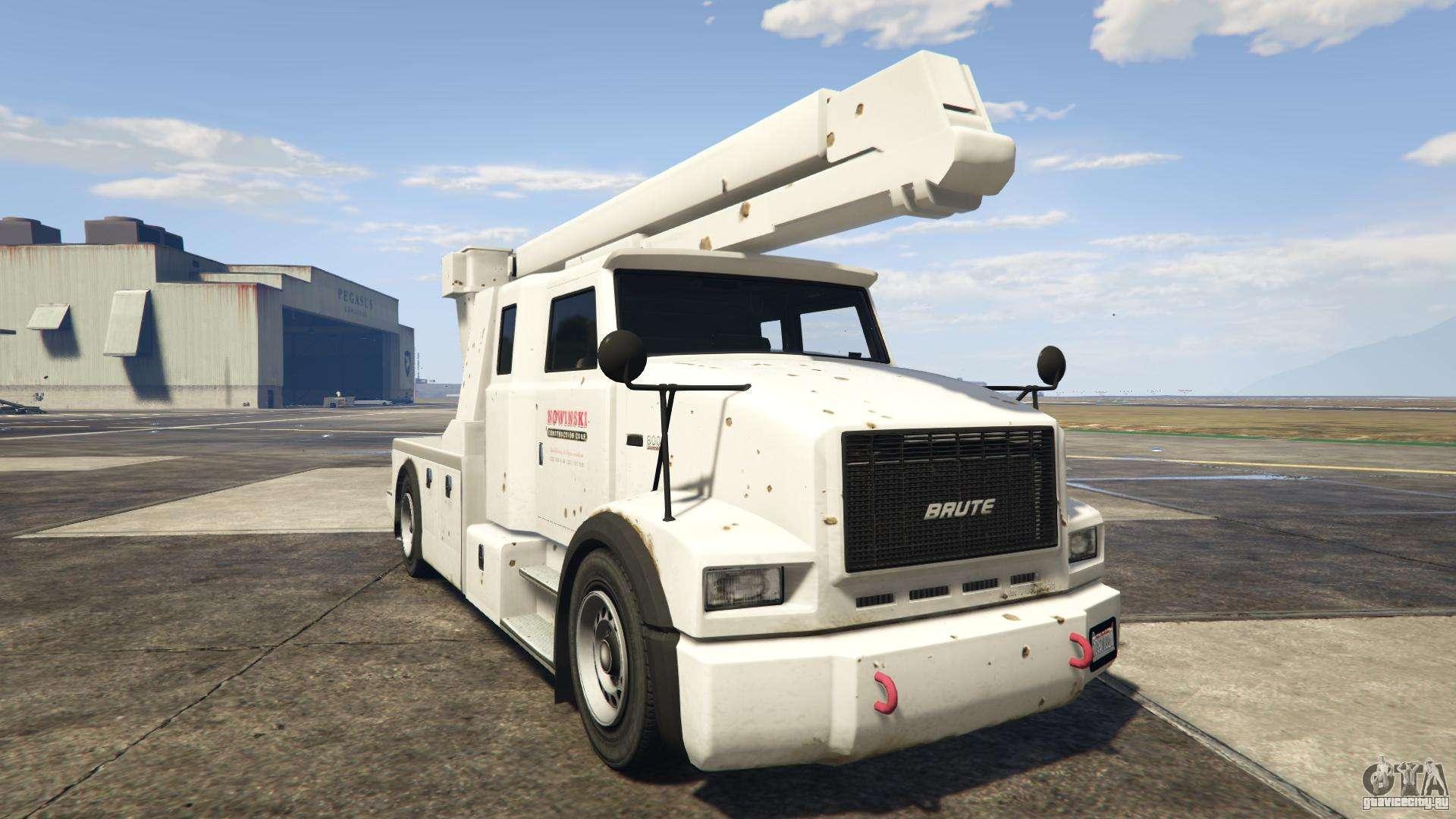 GTA 5 Brute Utility Truck - вид спереди