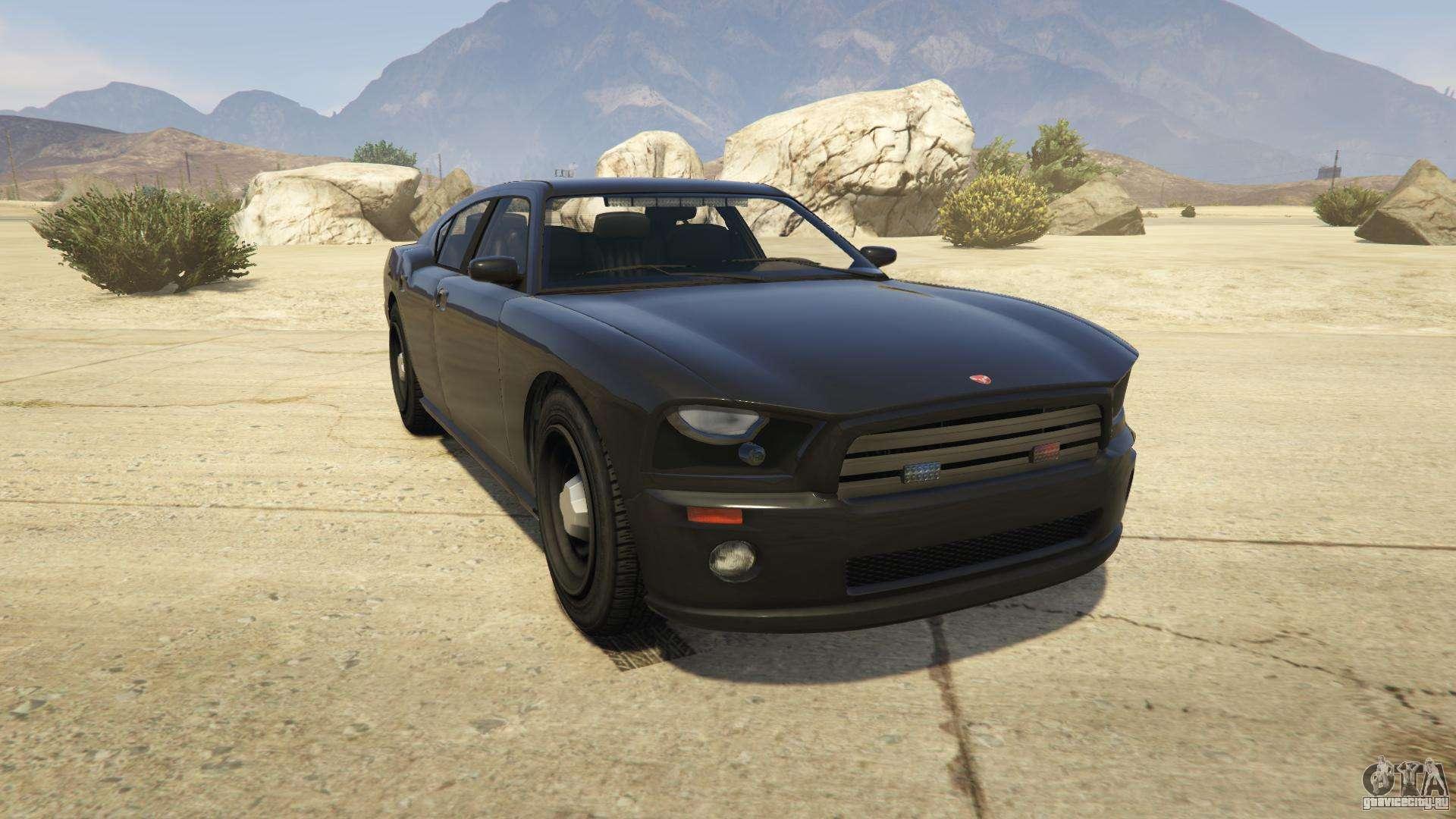 GTA 5 Bravado FIB Buffalo - вид спереди
