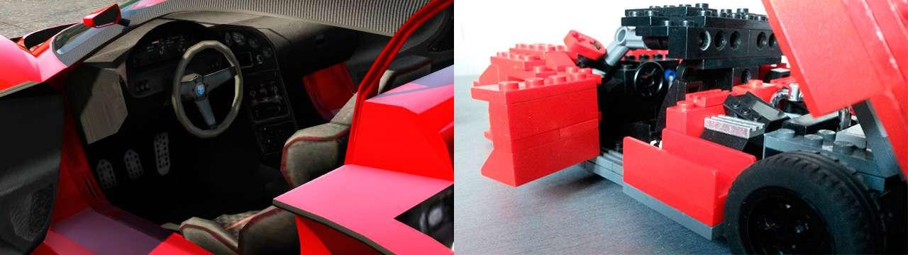 Lego Grotti Turismo R - интерьер