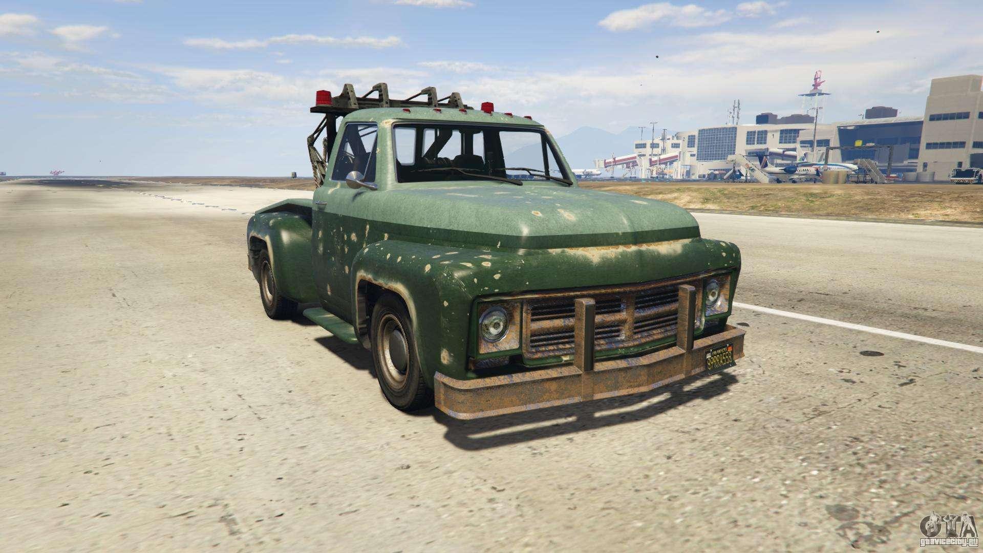 GTA 5 Vapid Tow Truck - вид спереди
