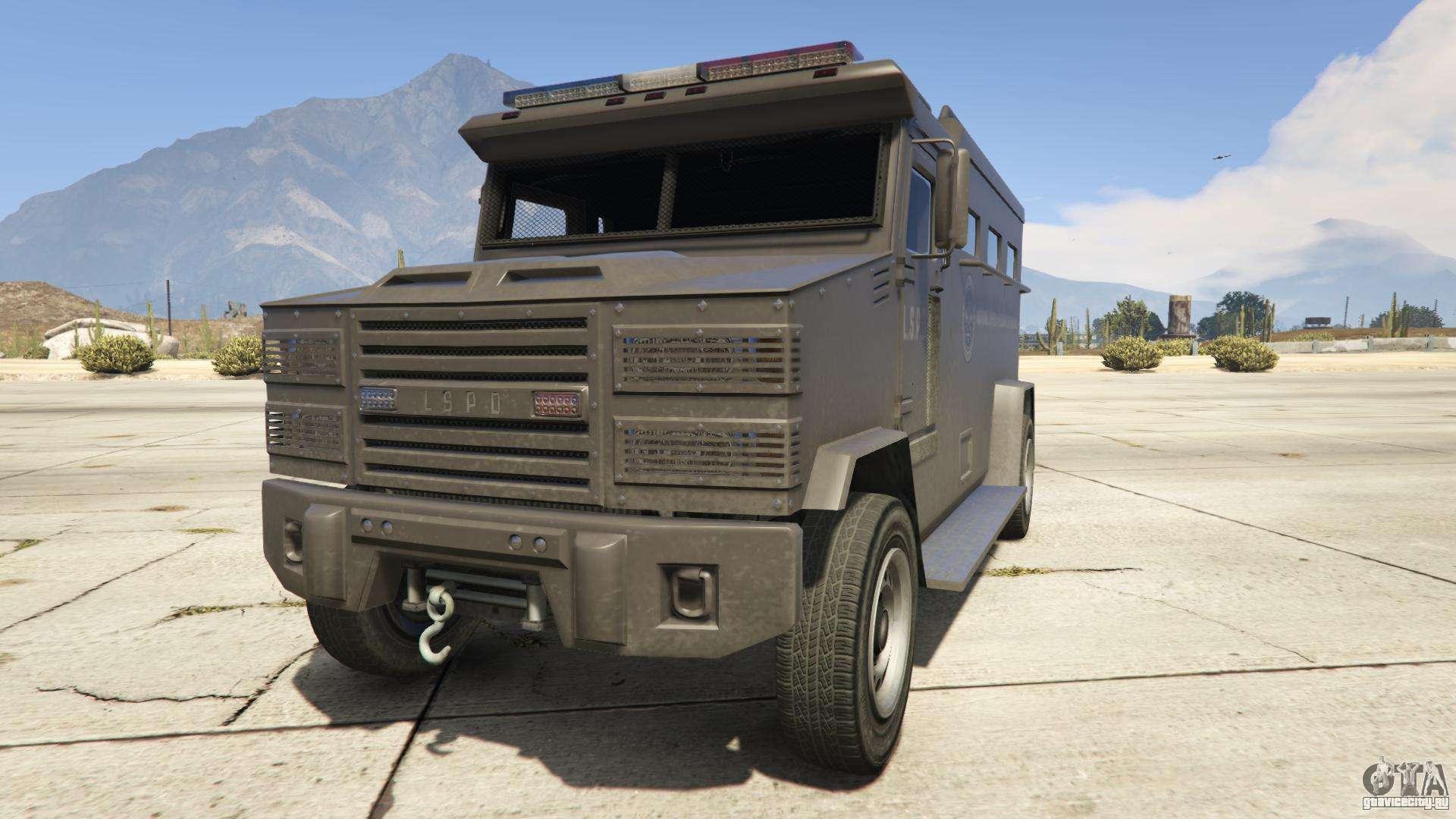 GTA 5 Brute Police Riot - вид спереди