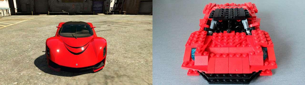 Lego Grotti Turismo R - передний вид