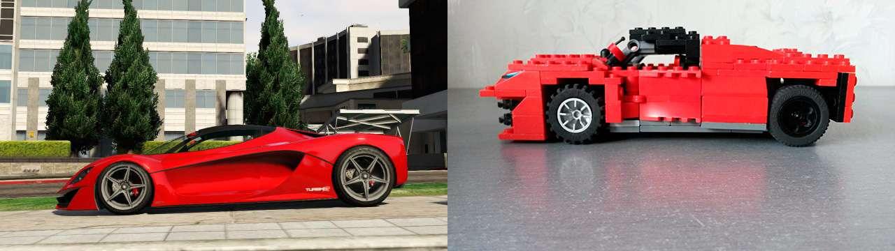 Lego Grotti Turismo R - вид сбоку