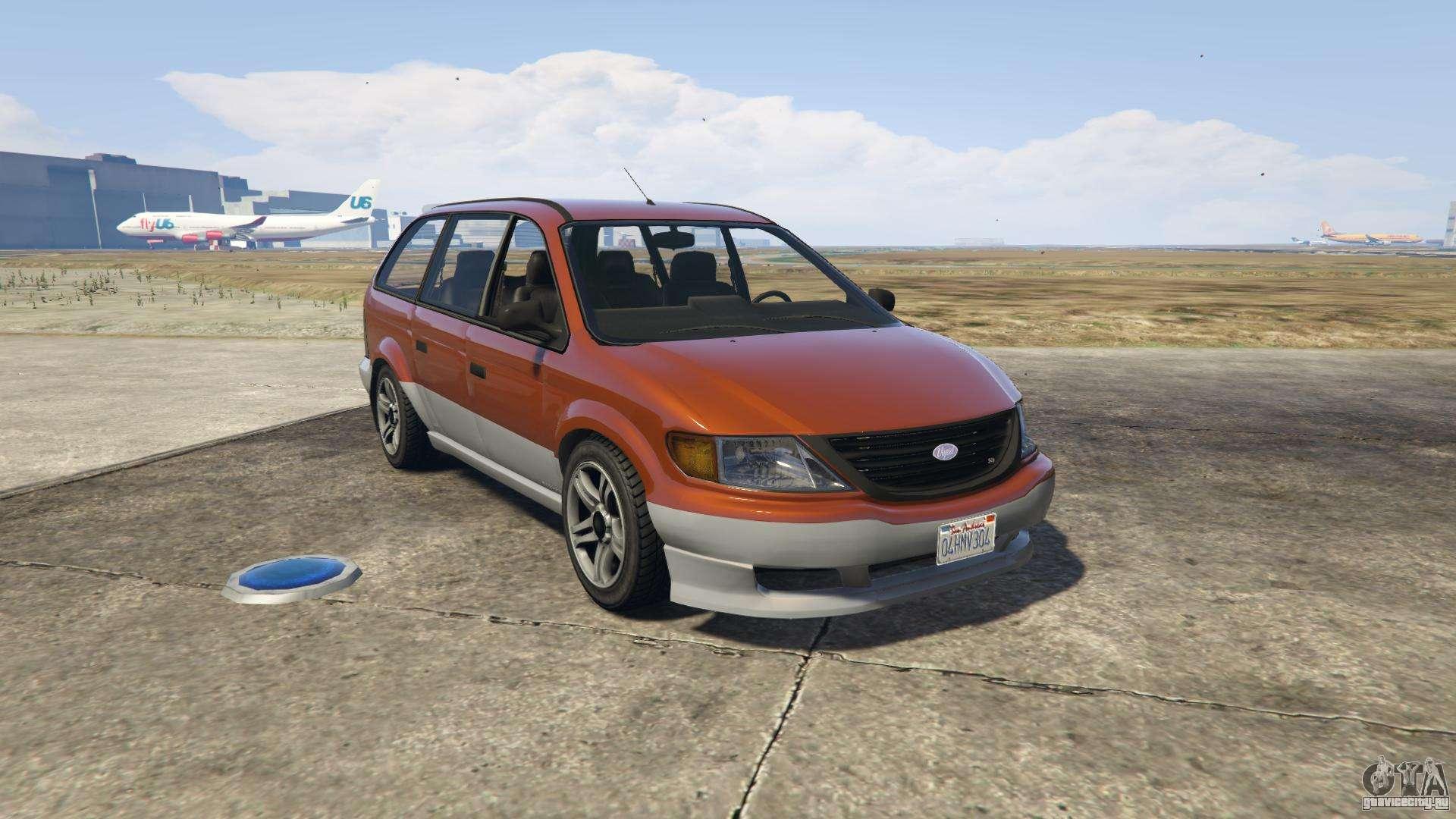 GTA 5 Vapid Minivan - вид спереди