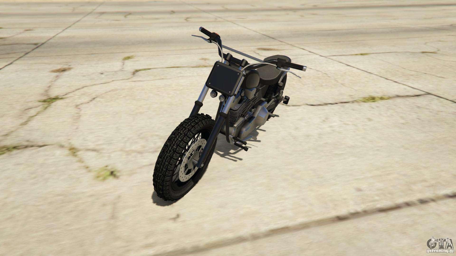 Western Motorcycle Company Cliffhanger из GTA Online - вид спереди