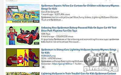 просмотры детских шоу на движке GTA 5