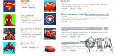 Примеры каналов на YouTube с роликами из GTA 5