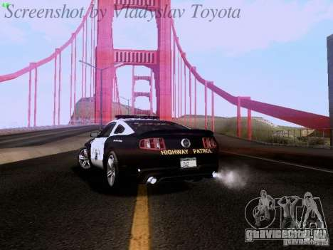 Ford Mustang GT 2011 Police Enforcement для GTA San Andreas вид сзади