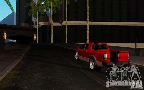 Dodge Ram 3500 Tuning для GTA San Andreas вид сзади слева