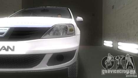 Dacia Logan для GTA Vice City вид сбоку