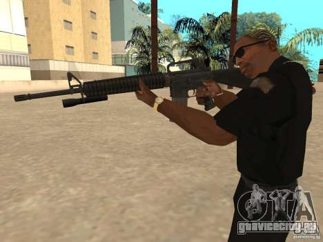 M4A1 from Left 4 Dead 2 для GTA San Andreas четвёртый скриншот