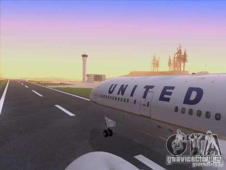 Boeing 777-200 United Airlines для GTA San Andreas вид сверху