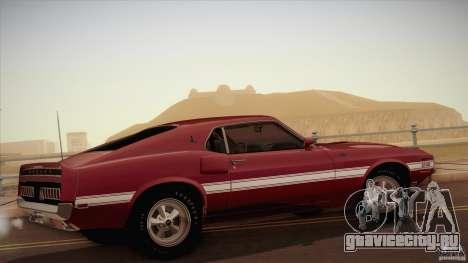Shelby GT500 428 Cobra Jet 1969 для GTA San Andreas вид слева