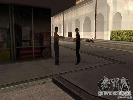 Оживлённая заправка в Лос Сантос для GTA San Andreas пятый скриншот