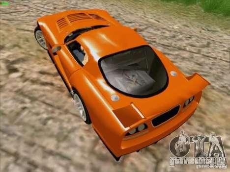 Dodge Viper GTS-R Concept для GTA San Andreas вид изнутри