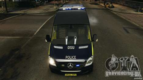 Mercedes-Benz Sprinter Police [ELS] для GTA 4 вид снизу