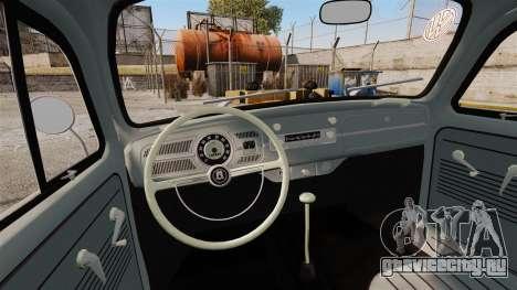 Volkswagen Fusca Edit для GTA 4 вид изнутри