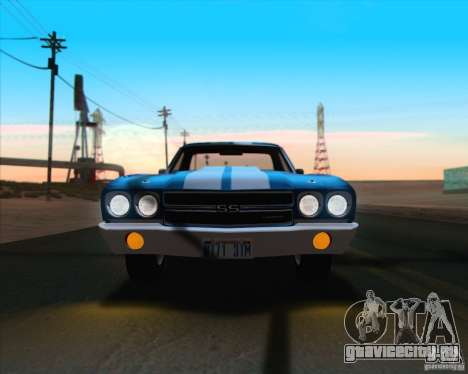 Chevrolet EL Camino SS 70 для GTA San Andreas вид снизу
