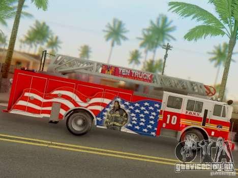 Seagrave FDNY Ladder 10 для GTA San Andreas вид сзади