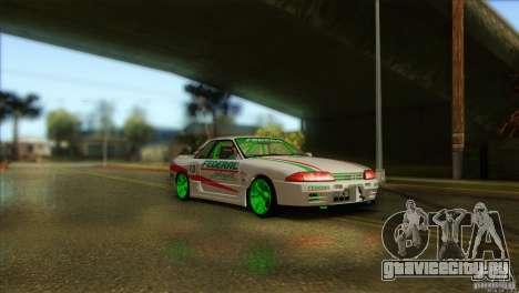 Nissan Skyline GT-R32 BadAss для GTA San Andreas вид сзади слева