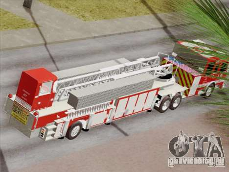Pierce Arrow XT LAFD Tiller Ladder Truck 10 для GTA San Andreas колёса
