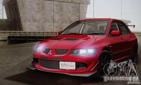 Mitsubishi Lancer Evolution VIII MR Edition для GTA San Andreas вид сзади слева