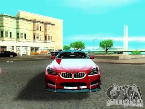 BMW M6 2013 для GTA San Andreas вид сверху