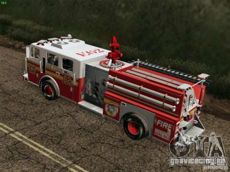 Seagrave Marauder II Engine 62 SFFD для GTA San Andreas вид сбоку