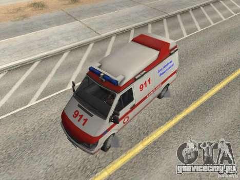Ford Transit Ambulance для GTA San Andreas вид справа