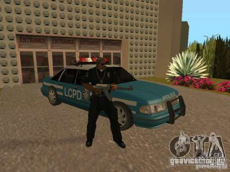 HD Police from GTA 3 для GTA San Andreas вид снизу