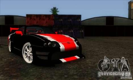 Toyota Supra Tunable для GTA San Andreas вид сзади