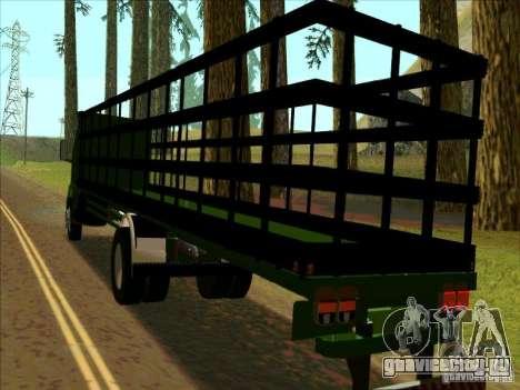 Ford Cargo для GTA San Andreas вид сзади слева