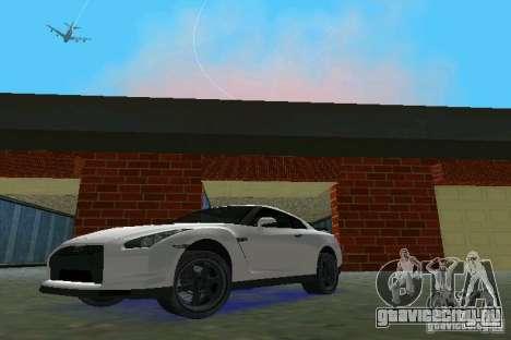 Nissan GT-R Spec V 2010 v1.0 для GTA Vice City вид слева