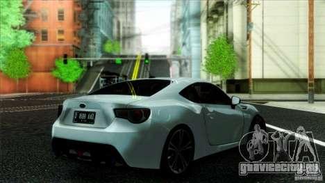 Subaru BRZ v2 для GTA San Andreas вид слева