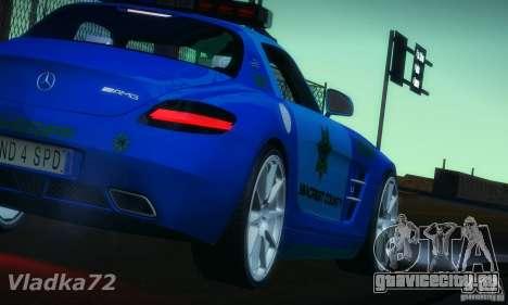 Mercedes-Benz SLS AMG Blue SCPD для GTA San Andreas вид слева