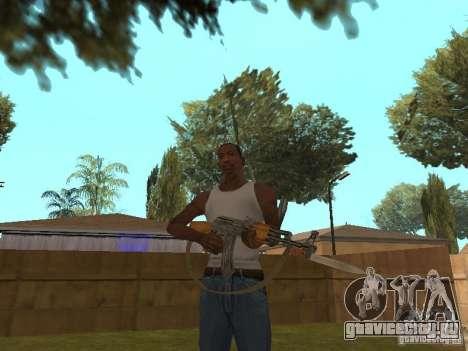 АК 47 со штык-ножом HD для GTA San Andreas третий скриншот