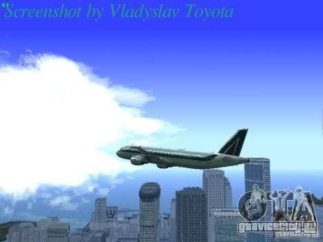 Airbus A320-214 Alitalia v.1.0 для GTA San Andreas вид снизу