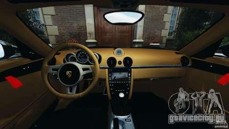 Porsche Cayman R 2012 для GTA 4 вид сзади